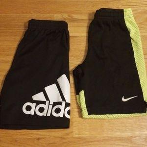 Nike & adidas Shorts, Lot of 2, Size 6-7